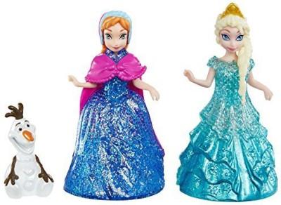 Mattel Disney Frozen Glitter Glider Annaelsa And Olaf Set