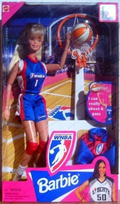 Barbie WNBA Basketball Blonde Barbie Doll by Mattel