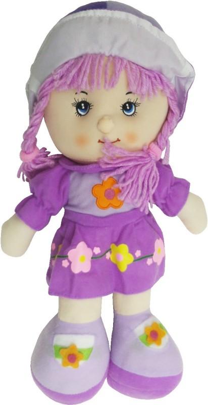 Emob Lovely Rag Little Baby Doll Soft Toy(Purple)
