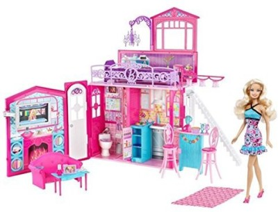 Mattel Barbie Glam House & Set(Multicolor)