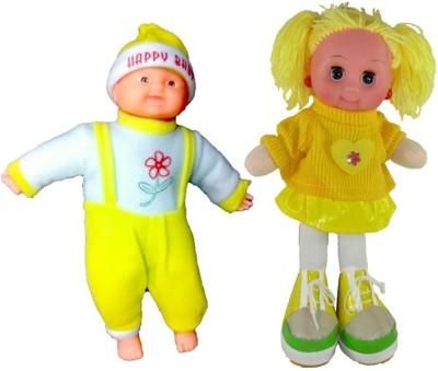 Arthr Musical Yellow Happy Baby Laughing Boy & Dora Doll