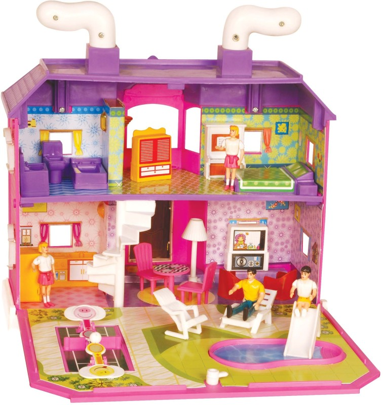 Toyzone My Family Doll House(Pink)
