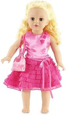 Emily Rose Doll Clothes Fits American Girl Pink Party Dress 18 Inch Clothes