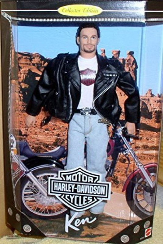 Mattel Ken # 1 Harley Davidson Ken Doll(Multicolor)