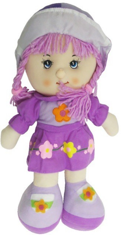 Montez Sweety Rag Baby Doll Soft Toy(Purple)