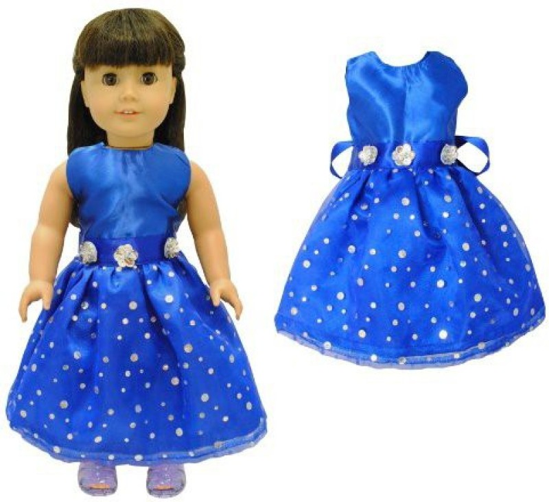 Pink Butterfly Closet Doll Clothes - Beautiful Blue Dress Outfit Fits American Girl(Multicolor)
