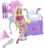 Barbie Hairtastic Color And Wash Salon P...