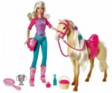 Barbie Doll and Tawny Horse Playset (Mul...