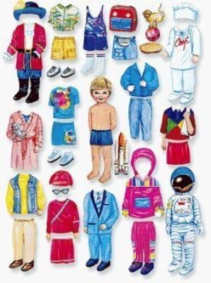 Little Folk Visuals Betty Lukens Matthew Felt With Extra Clothes Kit