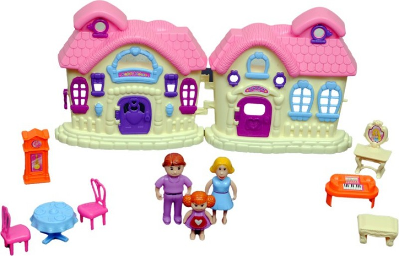 Montez My Sweet Doll House With Family(Multicolor)