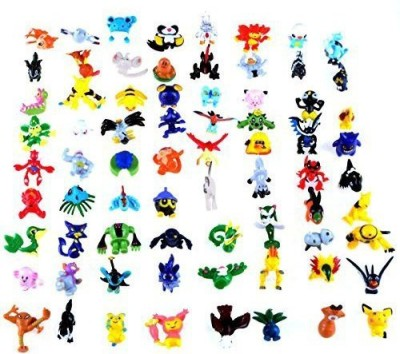 Syeer Mini Cute Pokemon Random Pearl ct Figures Toy Nice for Party Gifts 72Pcs 2-3cm/Pcs(Multicolor)