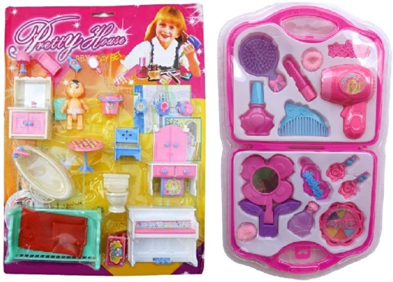 New Pinch combo of Pretty House Furniture Kit & fashion Beauty Set(Multicolor)