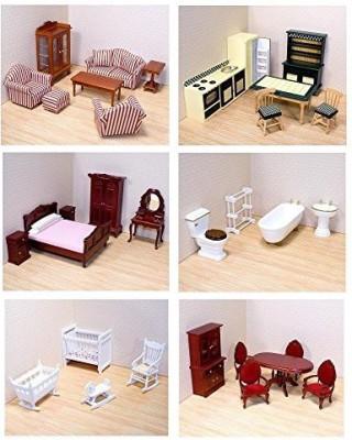 Melissa & Doug Victorian Dollhouse Furniture Bundle(Multicolor)