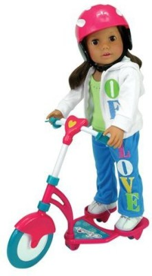 Sophia's Scooter & Helmet Set Made 18 Inchaccessories Fit(Multicolor)