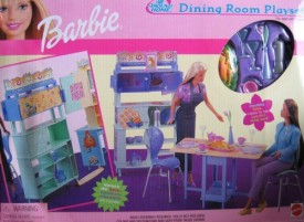 Barbie All Around Home Dining Room Playset(Multicolor)