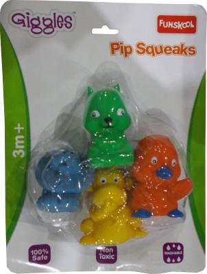 Funskool Pip Squeaks - Lion, Monkey, Rabbit, Duckling