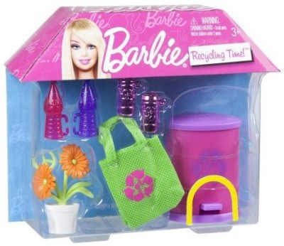 Barbie Packs Recycling Time
