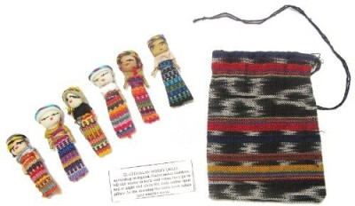 Worry Dolls Six Large With Pouch(Multicolor)