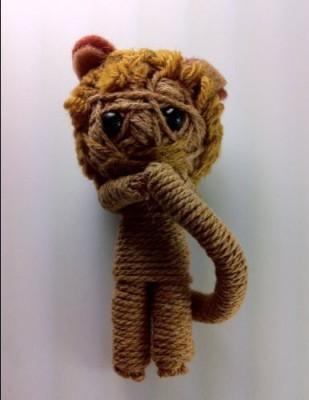 String Doll World Lion Voodoo String Keychain(Brown)