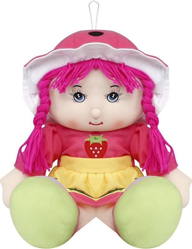 Emob Pink And Green Rag Soft Doll Big Size(Pink, Green)