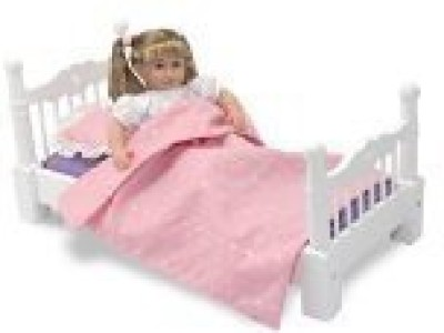 Melissa & Doug Deluxe Wooden Doll Furniture - Bed(Multicolor)