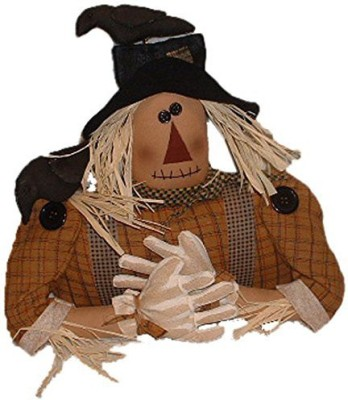 Craft Outlet Inc Craft Outlet Black Felix Scarecrow Shelf Sitter With Hat