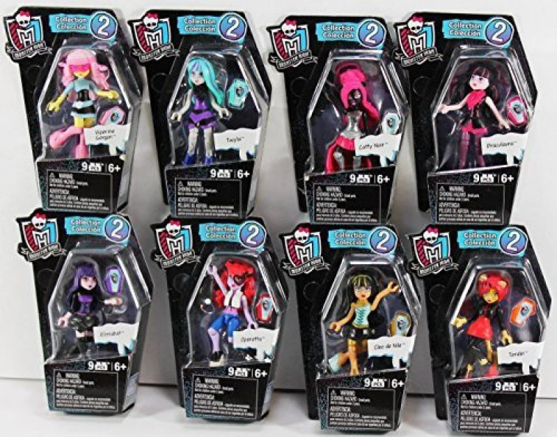 Monster High Bloks Ghouls Skullection Monster High Figure Set of 8 (Series 2)(Multicolor)