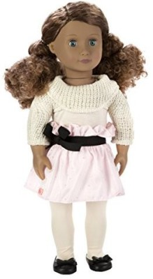 Our Generation Kaylee 18Inch With Curly Hairblue Eyesand Darling Outfit