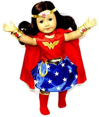 Arianna Empowering Wonder Woman 6 pcs. Doll Costume fits 18 inch American Girl Doll