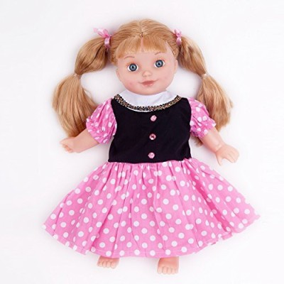 A Dolls Closet Pink/Black Polka Dots Dress Fits 18 American Girl Clothes(Multicolor)