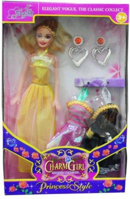 A M ENTERPRISES Multicolor Charm Doll with Accessories(Multicolor)
