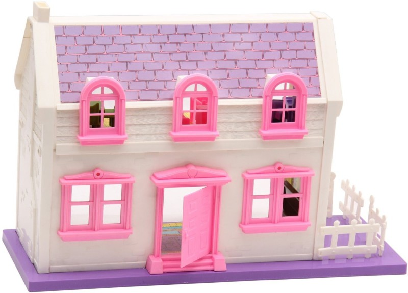 smiles creation 34 pc Doll House contains 4 Set Beautiful Rooms(Multicolor)