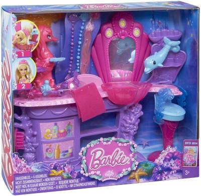 Barbie Pearl Princess Mermaid Salon Playset(Multicolor)