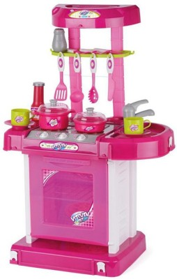 Turban Toys Battery Operated Kitchen Super Set With Light And Sound + Carry Case