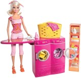 Barbie Spin To Clean Laundry Room and Ba...