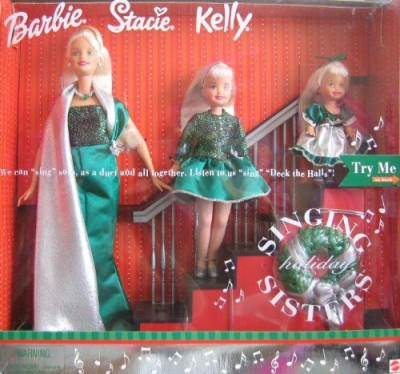 Barbie Holiday Singing Sisters Stacie KellySing Deck