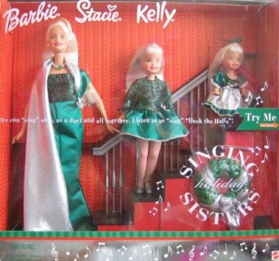 Barbie Holiday Singing Sisters Stacie KellySing Deck