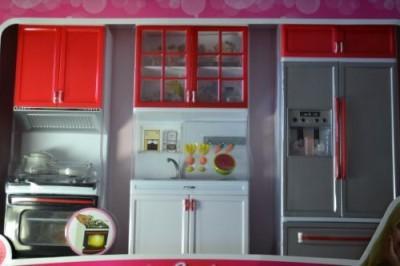 Modern Barbie Sized Dollhouse Furniture-Comfort Kitchen Refrigerator Sink Stove
