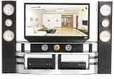 KINGSO Hi-Fi TV Cabinet Set Combo for Bl...