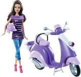 Barbie Teresa With Purple Scooter And He...