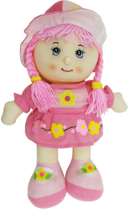 Montez Sweet Rag Baby Doll Soft Toy(Pink)