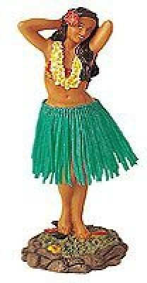 KC Hawaii Leilani Dashboard Hula Flower Placing Pose 7