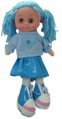 Wags Beautiful Musical Doll(33cm) With Led Light(Blue)