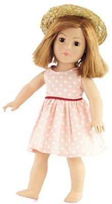 Emily Rose Doll Clothes 18 Inch Polka Dot Dress Outfit Fits 18