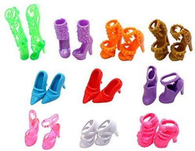 EastVita 10 Pairs Of Shoesfit Barbiemulticoloured1 Inch(Multicolor)
