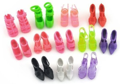 Qiyun 10 Pairs of Doll Shoes Fit Barbie Dolls Style and Color May Vary(Multicolor)