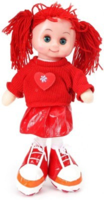 Wags Beautiful Musical Doll (33cm) With Led Light(Red)