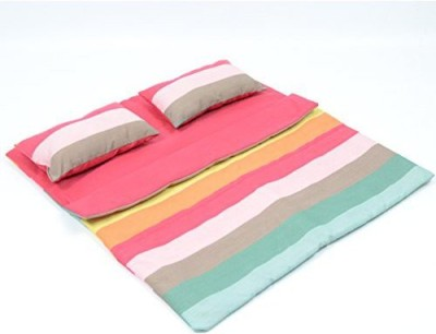The New York Doll Collection Bedding Striped Pattern Reversible Twin Doll Sleepover Bag for 18