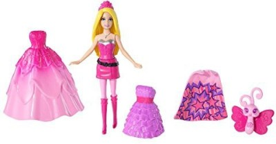Mattel Barbie Princess Power Mini Doll Vinyl Bag(Pink)