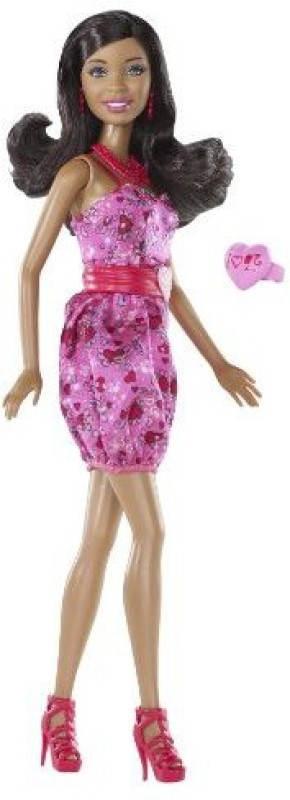 Barbie I Love Valentines African American(Multicolor)